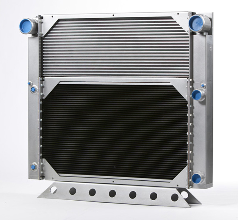 Horizontal Combo Cooler - Bolted Radiator & Alum Oil Cooler
